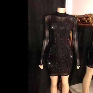 A Rhinestone Dress